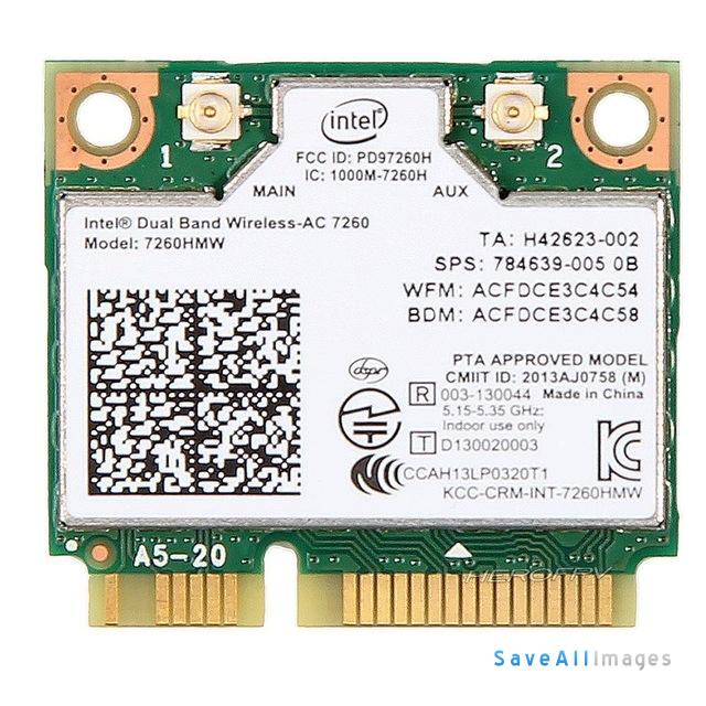 Intel 7260 AC Dual Band Wireless Card